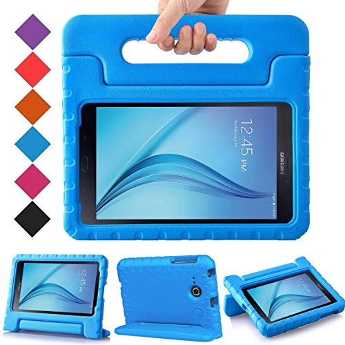 BMOUO Kids Case for Samsung Galaxy Tab E Lite 7.0 inch - ShockProof Case Light Weight Kids Case Super Protection Cover Handle Stand Case for Children for Samsung Galaxy Tab E Lite 7-Inch Tablet - Blue (Tab Verizon Samsung Case 2)
