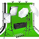 LimoStudio Photo Shooting Kit with Background Support System & Umbrella Softbox Lighting Kit, Photo Video Studio, AGG1388