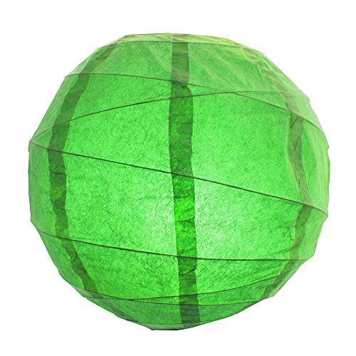 LumaBase-71105-5-Count-Criss-Cross-Paper-Lanterns-12-Green