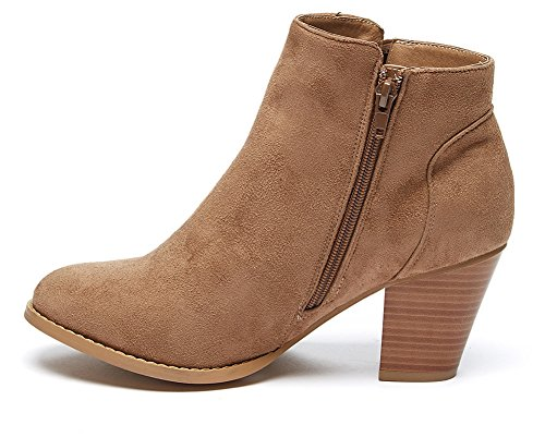 Charles Suede Chunky Faux Albert Taupe nbsp;Womens nbsp;Forever Heel Booties rAwzrRH