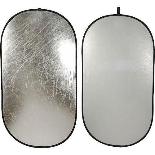 Impact Collapsible Oval Reflector Disc - Silver/White - 41x74 by Impact