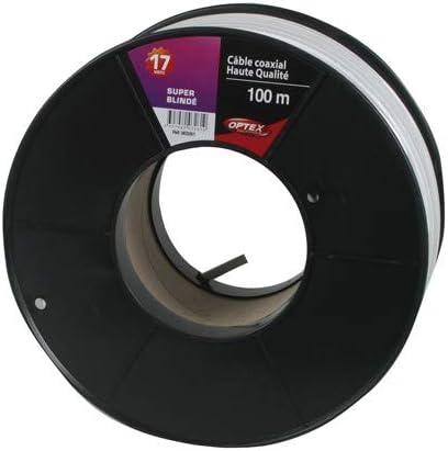 HDSAT Cable Coaxial Color Blanco 17 vatc Bobina 100 m ...