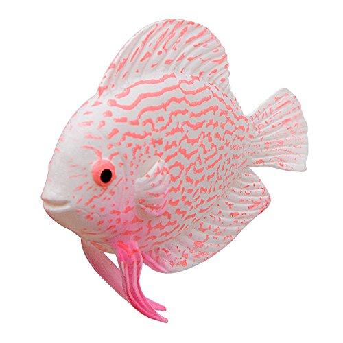 Rumas Aquarium Plastic Faux Fake Gold Fish for Fish Tank,Pink,Orange,Green (Pink)