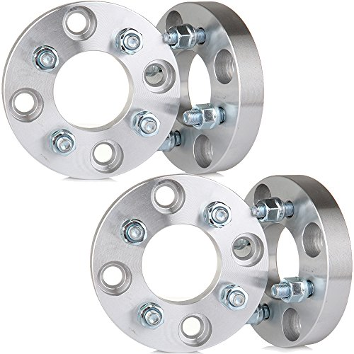 SCITOO 4x114.3 to 4x100 Wheel Adapter, 4X 1 inch Wheel Spacers 4x4.5 Cars use 4x100 Wheel Bolt On 12x1.5 Studs 67.1mm CB Adapters Fits Nissan Altima Hyundai Accent Tiburon Sonata Elantra Ford Mustang