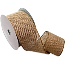 Morex Ribbon 1252.60/10-004  Burlap Wired Ribbon, 2-1/2-Inch by 10-Yard Spool, Natural
