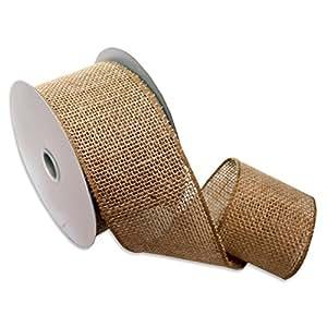 Morex Ribbon 1252.60/10-004  Burlap Wired Ribbon, 2-1/2-Inch by 10-Yard Spool, Natural