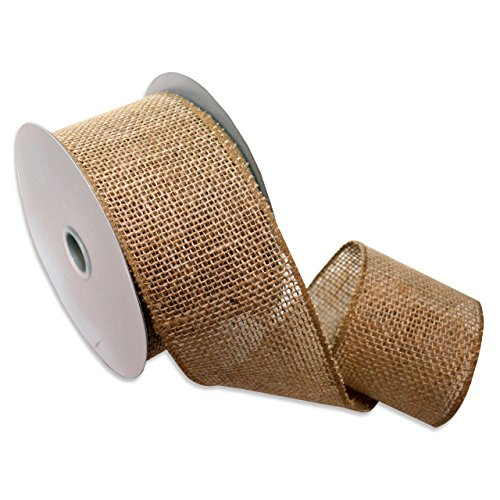Wire Ribbon Spool (Morex Ribbon 1252.60/10-004  Burlap Wired Ribbon, 2-1/2-Inch by 10-Yard Spool, Natural)