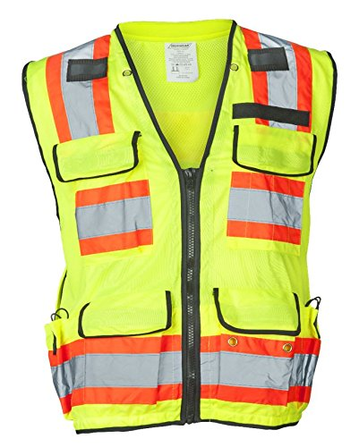 Ironwear 1278FR-L-04-XL ANSI Class 2 Flame Retardant Polyester Surveyor SAFETY Vest with 2