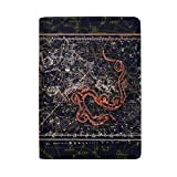 Constellation Real Leather Passport Holder Wallet Case Cover for Men Women