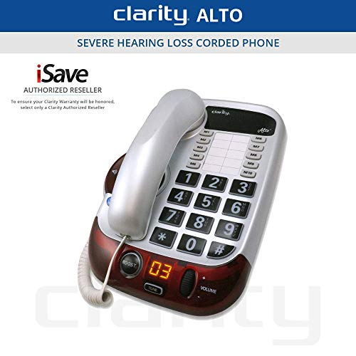 Clarity Alto 54005.001 Digital Extra Loud Big Button Speakerphone (Hard New Phone)