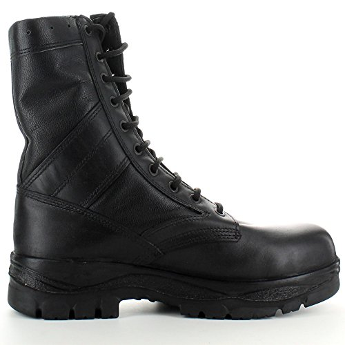 Highlander Mens Classic Military Leather Lace Up Winter Walking Boots Black