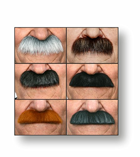 Mustaches Fake, Self Adhesive, Value Pack (6pcs.)