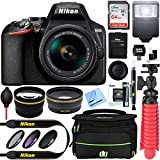 Nikon D3500 24.2MP DSLR Camera + AF-P DX 18-55mm VR NIKKOR Lens Kit + Accessory Bundle 64GB SDXC Memory + SLR Photo Bag + Wide Angle Lens + 2.2X Telephoto Lens + Flash +Tripod +Filters (Black)