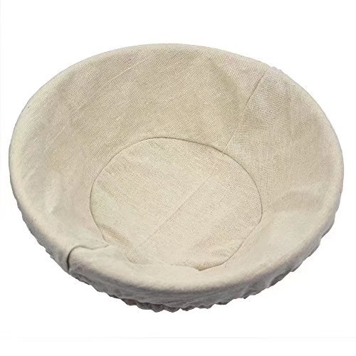 2 pack of 12 Inch Round Brotform Banneton Proofing Baskets Bread Bowl for Baking Dough with Rising Pattern (Bonus Linen Cover) by BabyFoxy (Image #3)