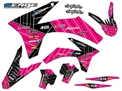 Senge Graphics kit compatible with KTM 2002-2008 SX 65, Race Series Pink Graphics Kit ()