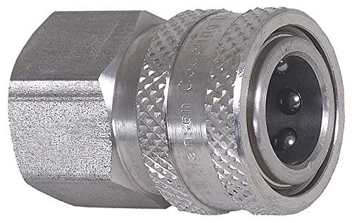 Quick Connect Coupler, Female, 1/4x1/4 In