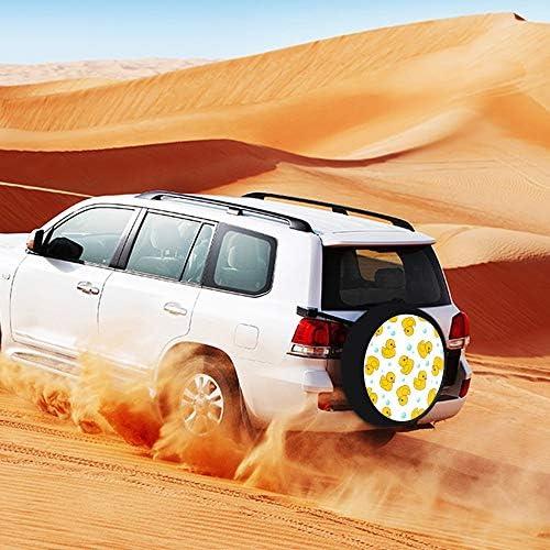 SUVタイヤカバー スペアタイヤカバー 黄色いアヒル 赤ちゃんアヒル タイヤ収納 カー用品 背面カバー 保管カバーパークレザー 雨よけカバー 背面スペアカバー 軽自動車 適用車 防水 簡単装着 車用15inch 17inch