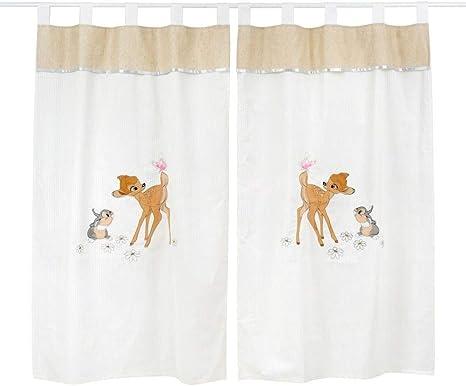 Parure de lit bébé Motif Dearest Bambi 2 rideaux: Amazon.fr ...