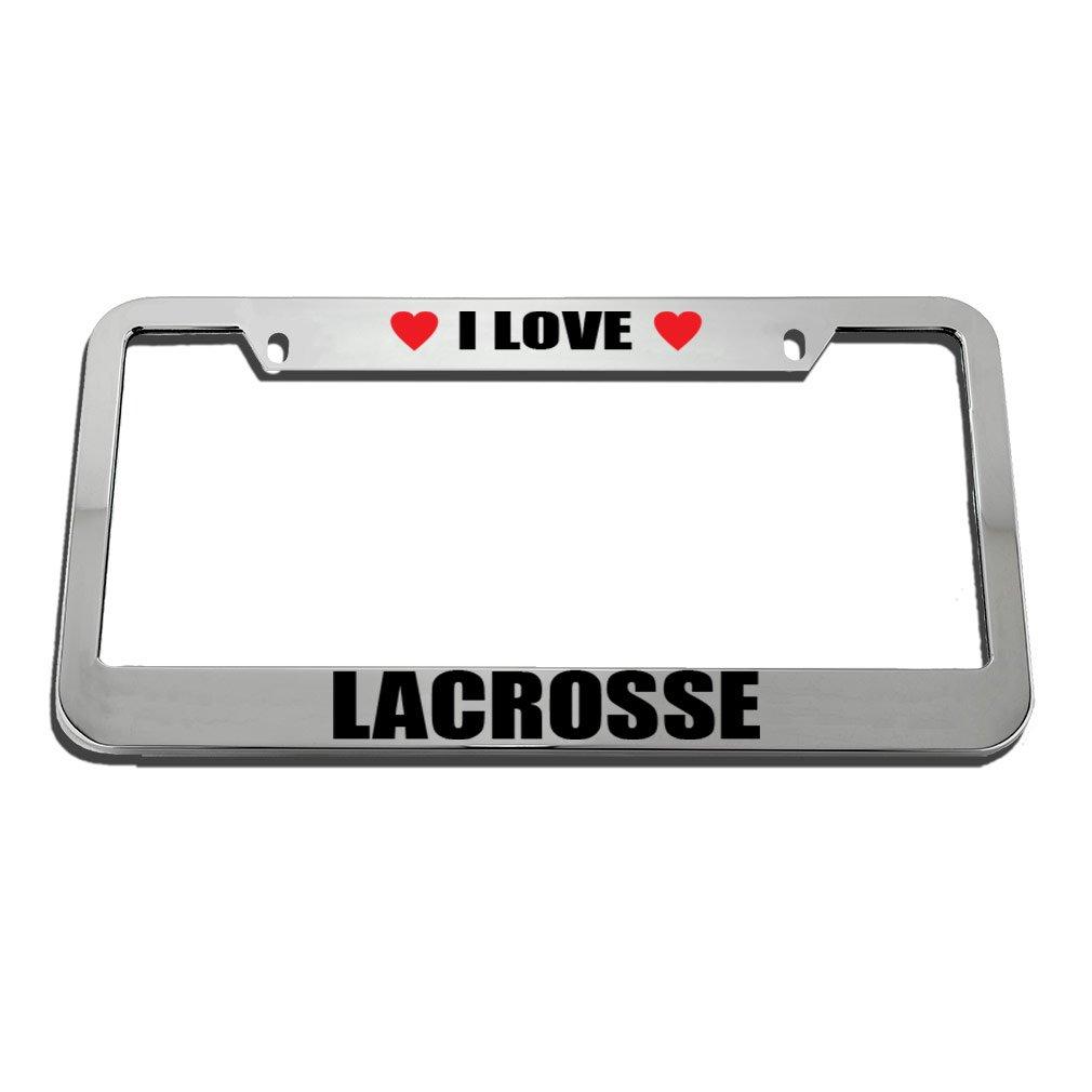Speedy Pros I Love Lacrosse License Plate Frame Tag Holder