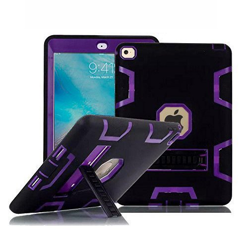 iPad Pro Case (9.7 Inch), TabPow Armor Hybrid Series - [Shockproof][Drop Protection][Heavy Duty] Rugged Three-Layer Defender Case Cover With Stand For iPad Pro 9.7 inch, Purple