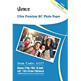 RC Ultra Premium Photo Paper - 4x6 High Glossy Photographic Paper 100% Waterproof - Uinkit 200Sheets for Inkjet Printing
