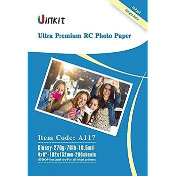 Amazon.com: Uinkit - Papel fotográfico para impresión de ...