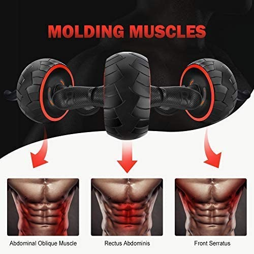 June Fox Ab Roller Wheel for Abs Workout Ab Carver Abdominal Exercise Equipment with Knee Pad 3