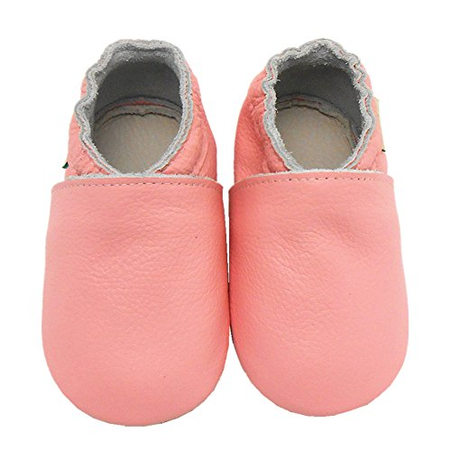 Sayoyo Lowest Best Baby Soft Sole Prewalkers Skid-resistant Baby Toddler Shoes Cowhide Shoes (24-36 months, Pink)