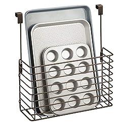 Cabinet Door Organizers mDesign Metal Over Cabinet Kitchen Storage Organizer Holder or Basket – Hang Over Cabinet Doors in Kitchen/Pantry… cabinet door organizers