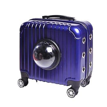 Carrito para Mascotas Carrier Case Transpirable Luxury Travel Bolsas para Mascotas (Mascotas de hasta 16 Libras) (33cmX39cmX22cm) (Color : Azul): Amazon.es: ...