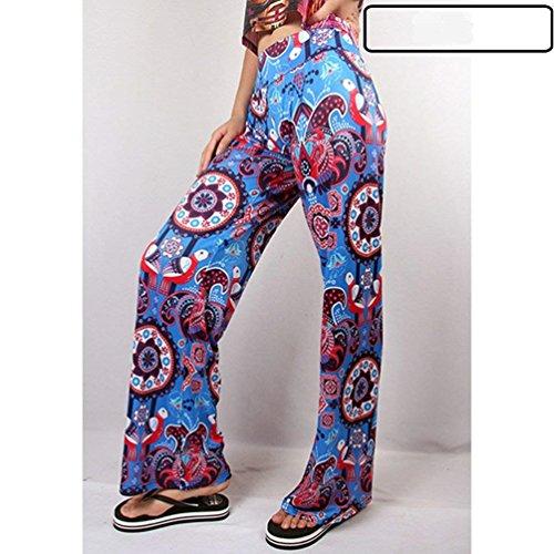 Costume Vintage Moda Libero Eleganti Stampato Autunno Larghi 12 Pantaloni Donna Tempo Colour Pantalone Taille Colpo Primaverile Femminile Pantaloni Nahen Pantaloni YXRTq