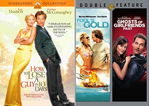 Matthew Hudson How to Lose a Guy in 10 Days / Fools's Gold + Ghosts of Friends Past Triple Feature DVD Romantic Comedy Movie Pack