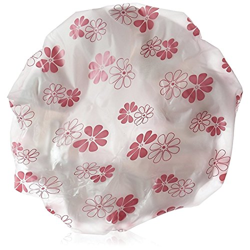 - Betty Dain Terry-Lined Shower Cap, Pink Polka Dot
