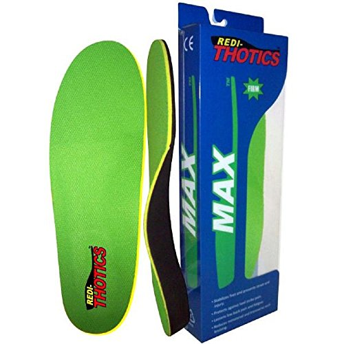 Redi-Thotics Max Orthotic Insoles - Size (High Impact Abs Shell)
