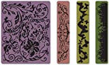 Sizzix Texture Fades Embossing Folders 4PK - Springtime Background & Borders Set by Tim Holtz