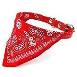 TOOGOO Adjustable Pet Dog Cat Bandana Scarf Collar Small Size Red