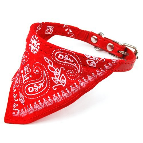 TOOGOO Adjustable Pet Dog Cat Bandana Scarf Collar Small Size Red