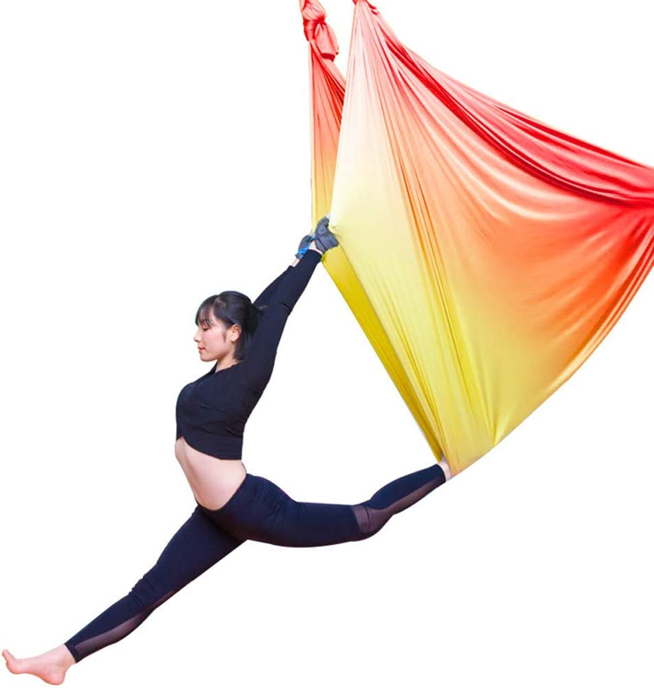 Yoga Swing Hammock Trapeze Sling Aerial Silks Set Home//Gym//Outdoor Fitness Tools