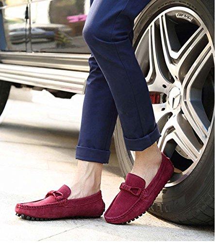 Los Zapatos Ligeros De Los Zapatos Ocasionales Que Conducen Los Zapatos De Los Hombres Antideslizantes Del Ocio wine red