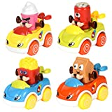 LUKAT Baby Cars Push and Go Friction Toy Cars Toddler Toys for 1 2 3 Year Old Boys and Girls