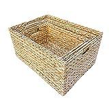Set of 3 Rectangular Water Hyacinth Storage Baskets