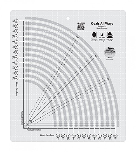 Creative Grids Ovals All Ways Quilting Ruler Template CGRKAOVAL by Creative Grids