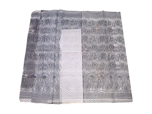 - Saree 151 Grey Super Net Saree.. Grey Super Net Saree With Grey And White Thread Work All Over. With Running Blouse Piece