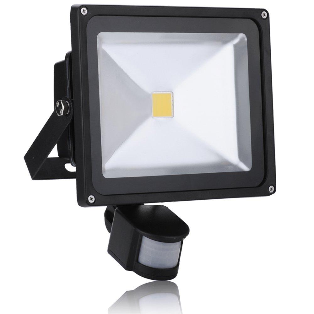 1 x 30 W LED blanco cálido foco reflector luz de inundación iluminación con Detector de movimiento del objeto: Amazon.es: Iluminación