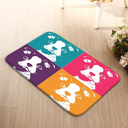 Place Mats Washable Fabric Placemats for Dining Room Kitchen Table Decor 23.6x15.7 Boston terrior pop up Terrier Pattern Art