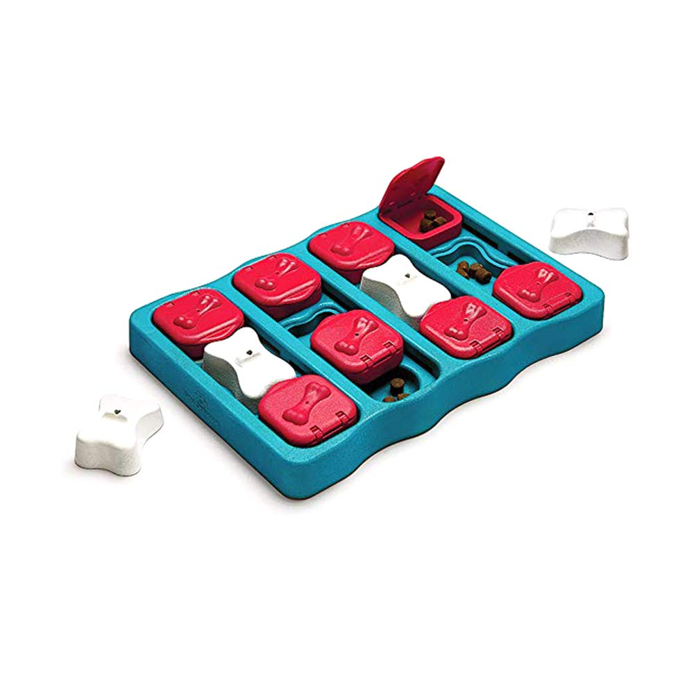 Dog IQ Treats Puzzle Pet Interactive Hide Seek Puzzle Brick Dogs Toy Food Dispensing Improve Pets IQ Game Treat Specially Designed for Training Treats