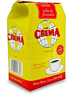 Cafe Crema Ground Puerto Rican Coffee, 14 Ounce Bag (2 Bags)