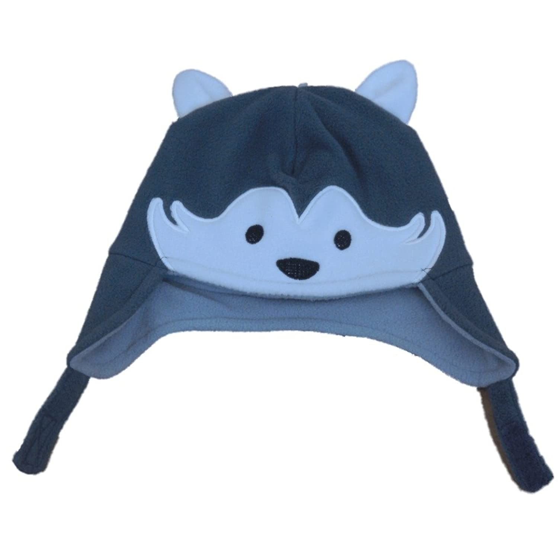 CP Infant Boys   Girls Gray Fleece Husky Dog Peruvian Trapper Hat 6-12  Months 991ce6484f4