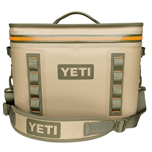 YETI 18050120000 Hopper Flip 18 Portable Cooler, Field Tan/Blaze Orange