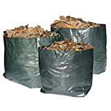 Garden Waste Bags Premium Set of 3 Reusable Bags with Handles, 60 Gallon Capacity Per Bag, Heavy Duty & Waterproof Rubbish Sacks Best for Grass, Leaves, Trees, Plants, Flowers, Weed, Hedges & Shrubs